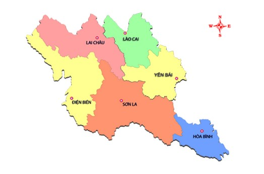 vị trí địa lý của tây bắc